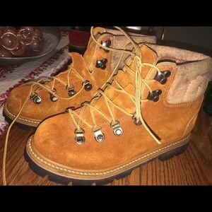Vintage Sportsteps leather boots waffle stompers